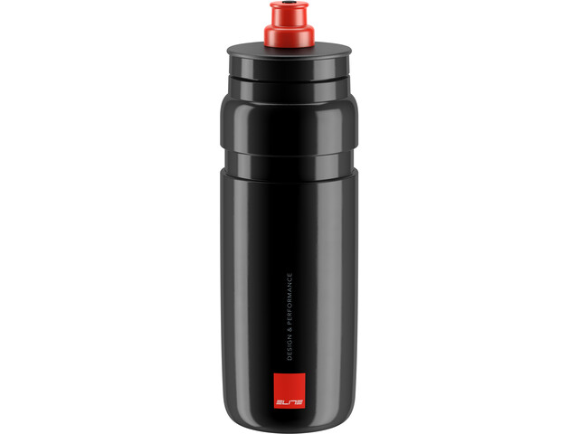 Elite Fly Trinkflasche 750ml schwarz/rotes logo